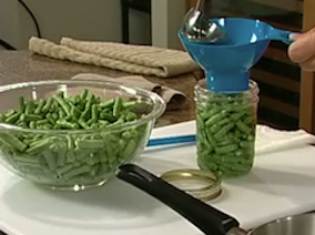 Raw pack green beans